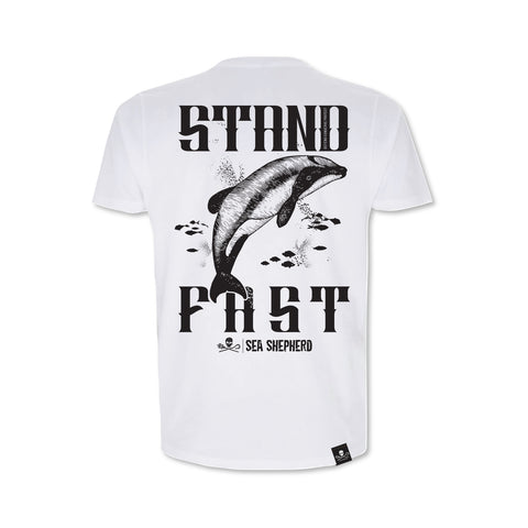 Sea Shepherd Stand Fast - Hector Stands Fast 100% Organic Cotton Heavy Jersey - White Tee