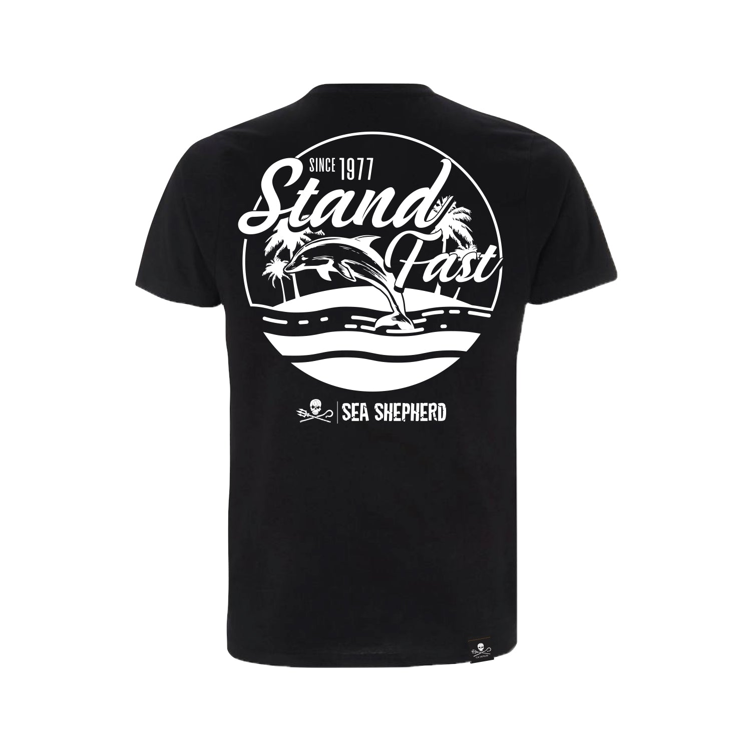 Sea Shepherd Stand Fast - Island Time 100% Organic Cotton Jersey - Black Tee