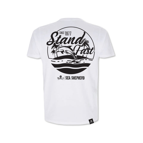 Sea Shepherd Stand Fast - Island Time Jersey - White Tee