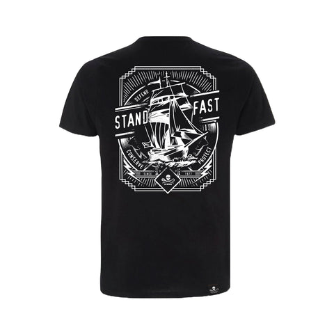 Sea Shepherd Stand Fast - Smooth Sailing 100% Organic Cotton Heavy Jersey - BlackTee