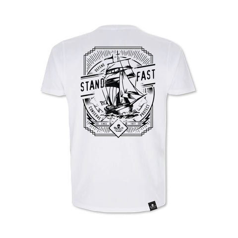 Sea Shepherd Stand Fast - Smooth Sailing 100% Organic Cotton Sleeve - White Tee