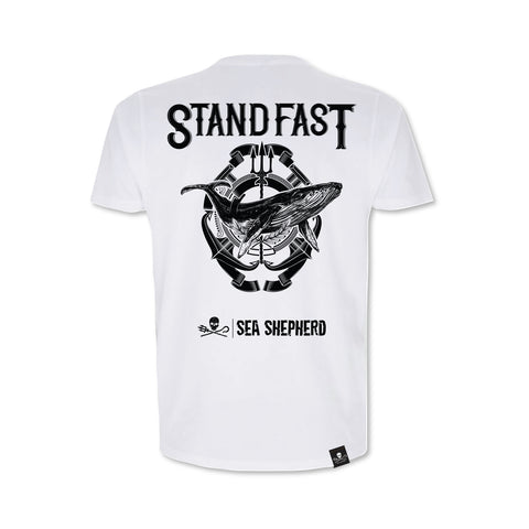 Sea Shepherd Stand Fast - Whale King 100% Organic Cotton Short Sleeve - White Tee