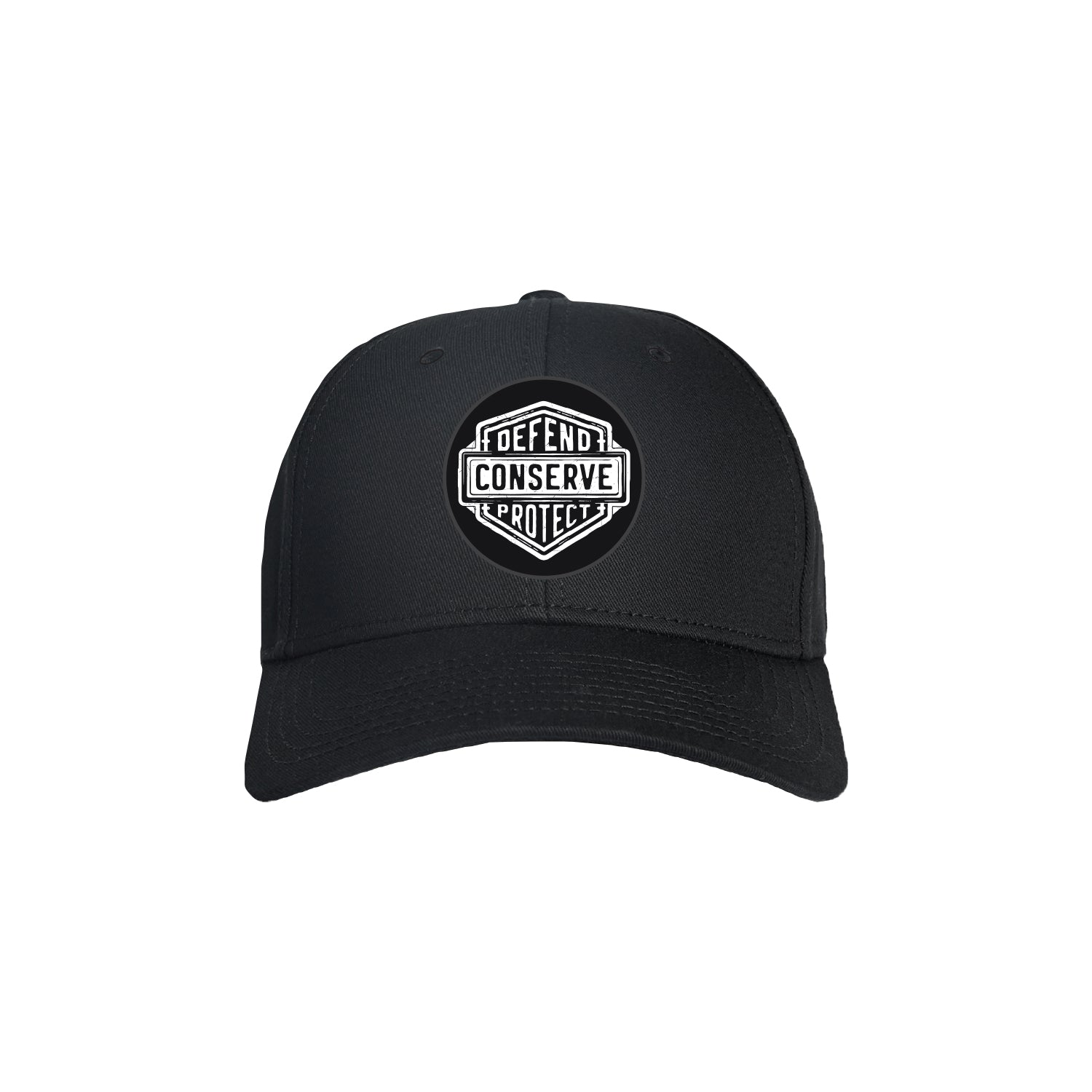Sea Shepherd Stand Fast - Defend Conserve Protect Forever - Black Organic Cap, 6 Panel