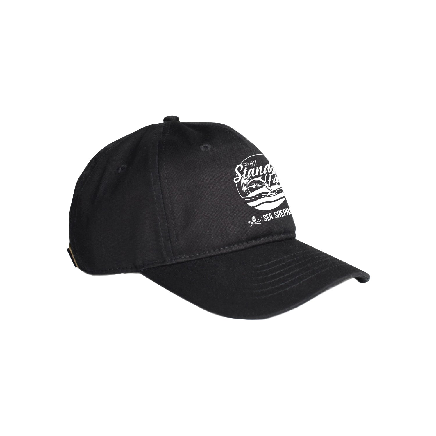 Sea Shepherd Stand Fast - Island Time - Black Organic Cap, 6 Panel
