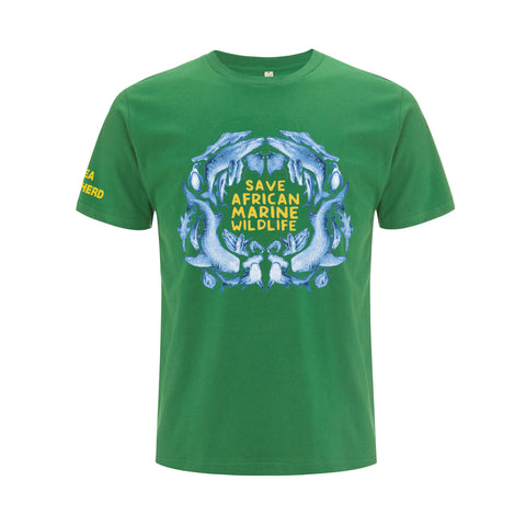 Save African Marine Wildlife Unisex Tee - Green