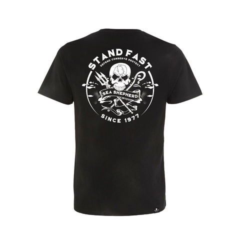 Sea Shepherd Defenders View Organic Jersey Tee - Black
