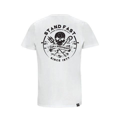 Sea Shepherd Defenders View Organic Jersey Tee - White