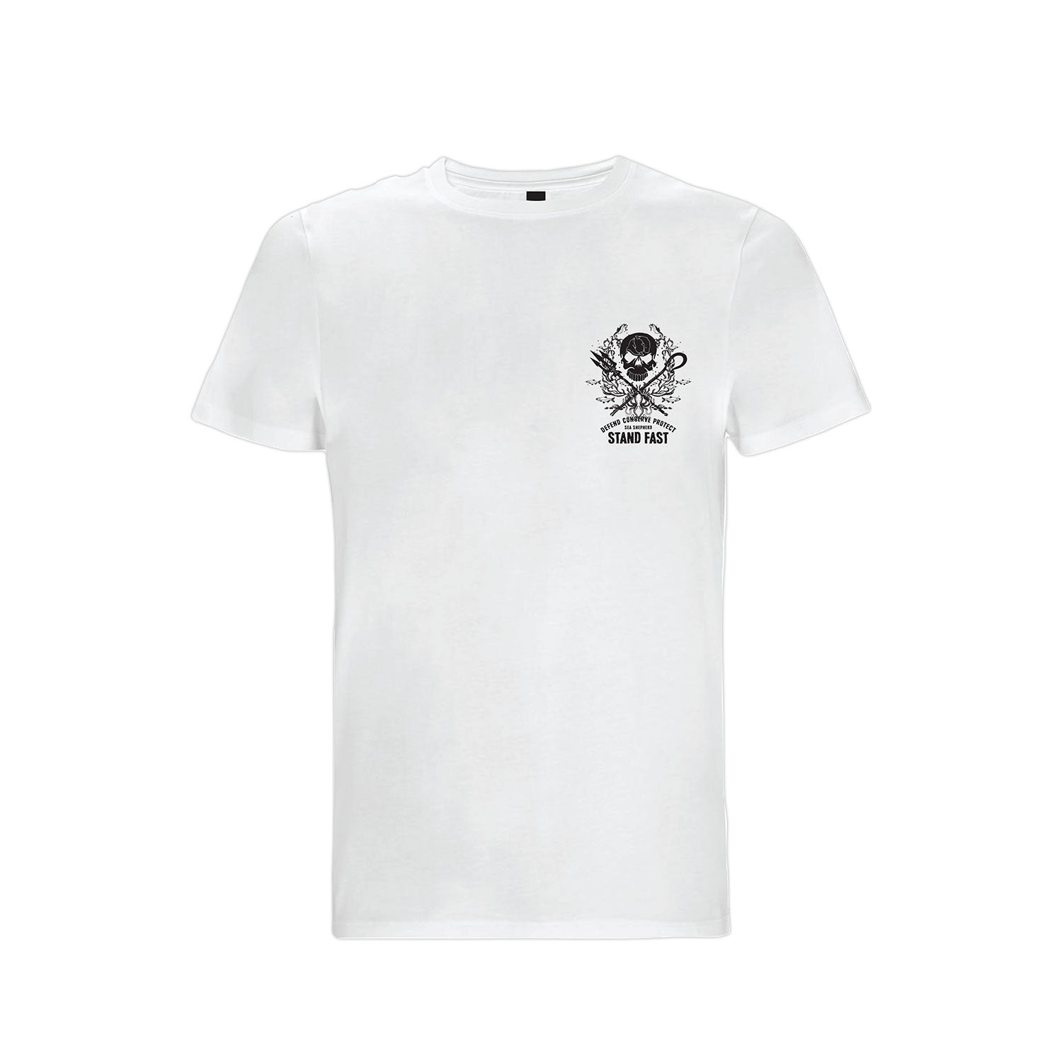 Sea Shepherd Deep Sea Tranquility Organic Jersey Tee - White