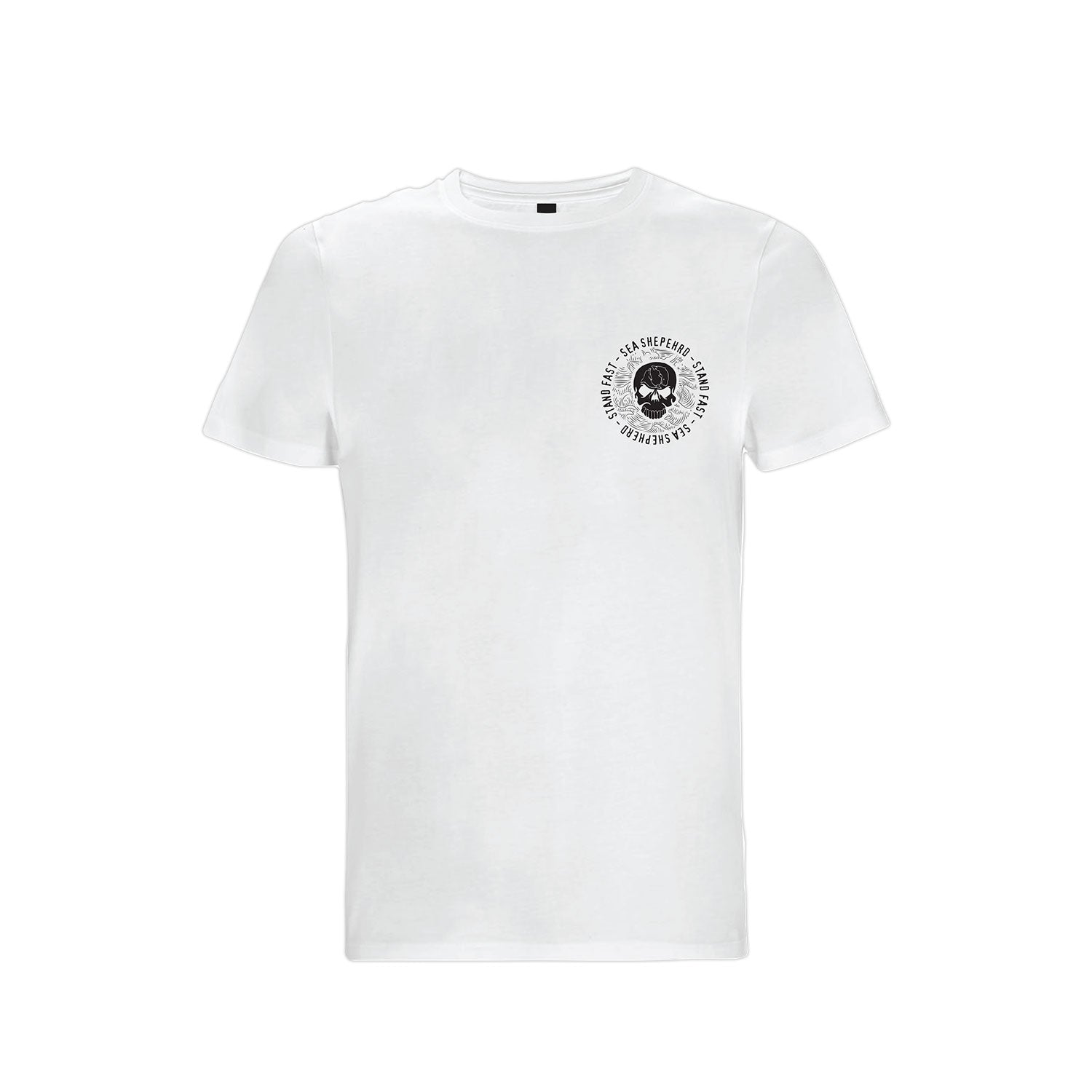 Sea Shepherd Sea Cliff Dreaming Organic Jersey Tee - White