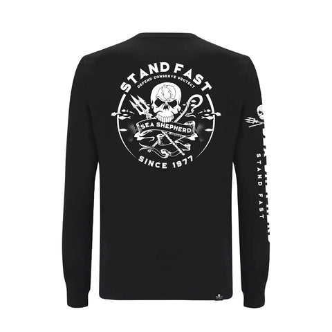 Sea Shepherd Defenders View Organic Jersey L/S Tee - Black