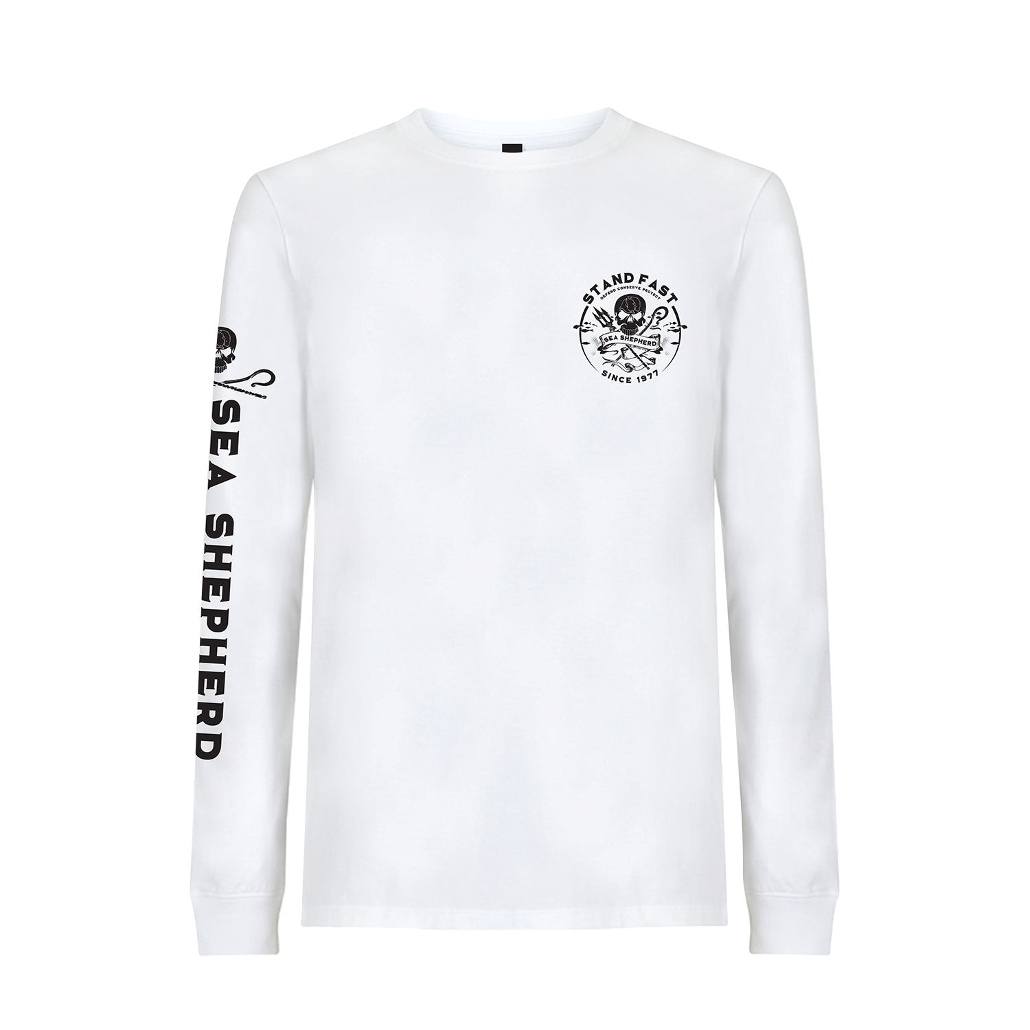 Sea Shepherd Defenders View Organic Jersey L/S Tee - White