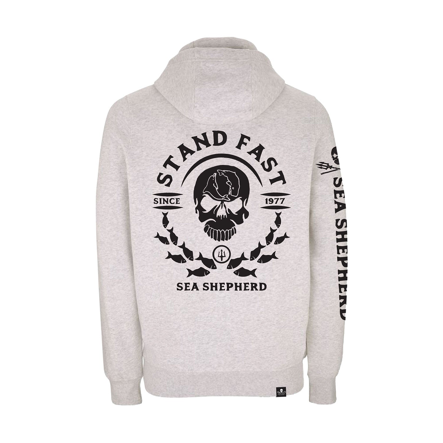 Sea Shepherd Mirror School Pullover Hoody - Melange White