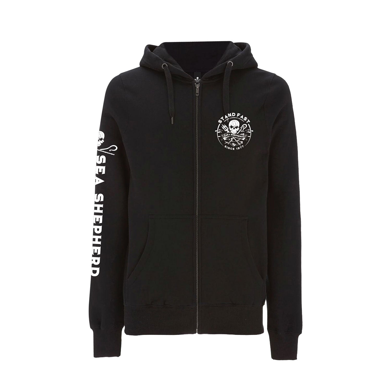 Sea Shepherd Defenders View Full Zip Hoody - Black