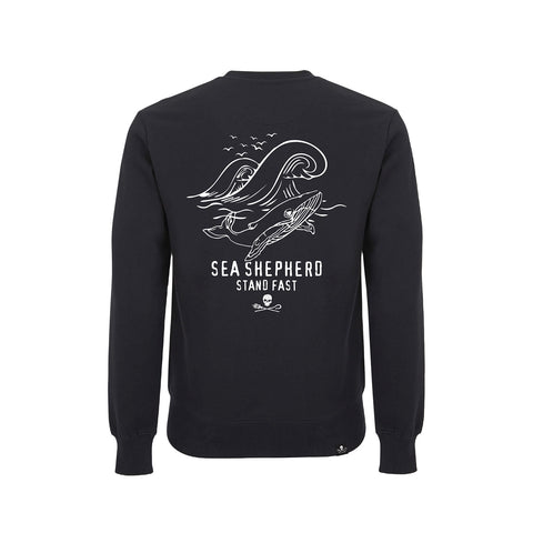 Sea Shepherd Whale Time Sweater - Black