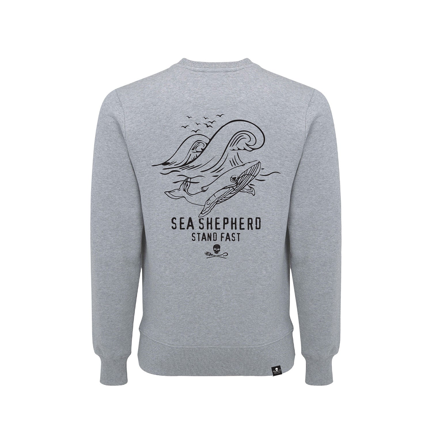 Sea Shepherd Whale Time Sweater - Grey Marle