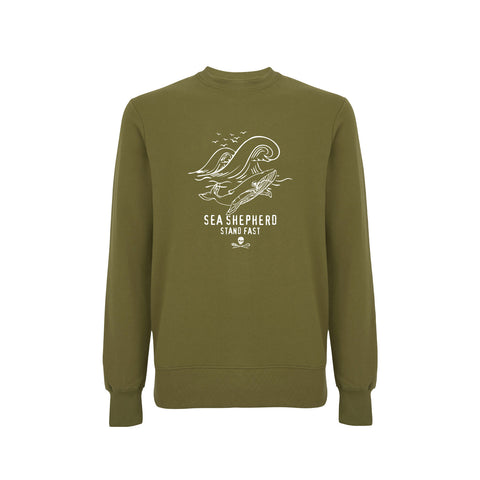 Sea Shepherd Whale Time Sweater - Khaki