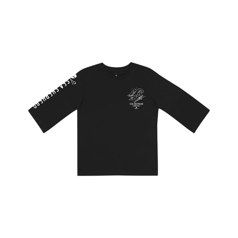Sea Shepherd Whale Time Kids L/S Tee - Black