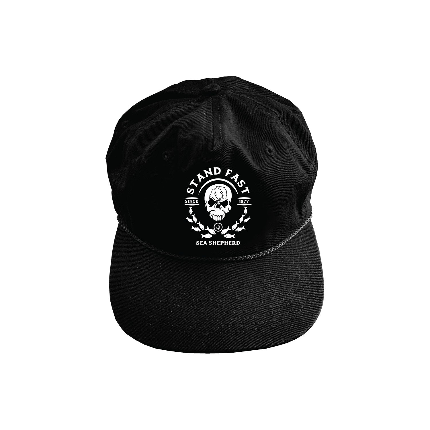 Sea Shepherd Mirror School Cap - Black