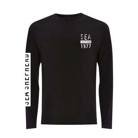 Stand Fast Global Ocean Defense Unisex Long Sleeve Tee - Black