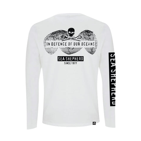 Stand Fast Global Ocean Defense Unisex Long Sleeve Tee - White
