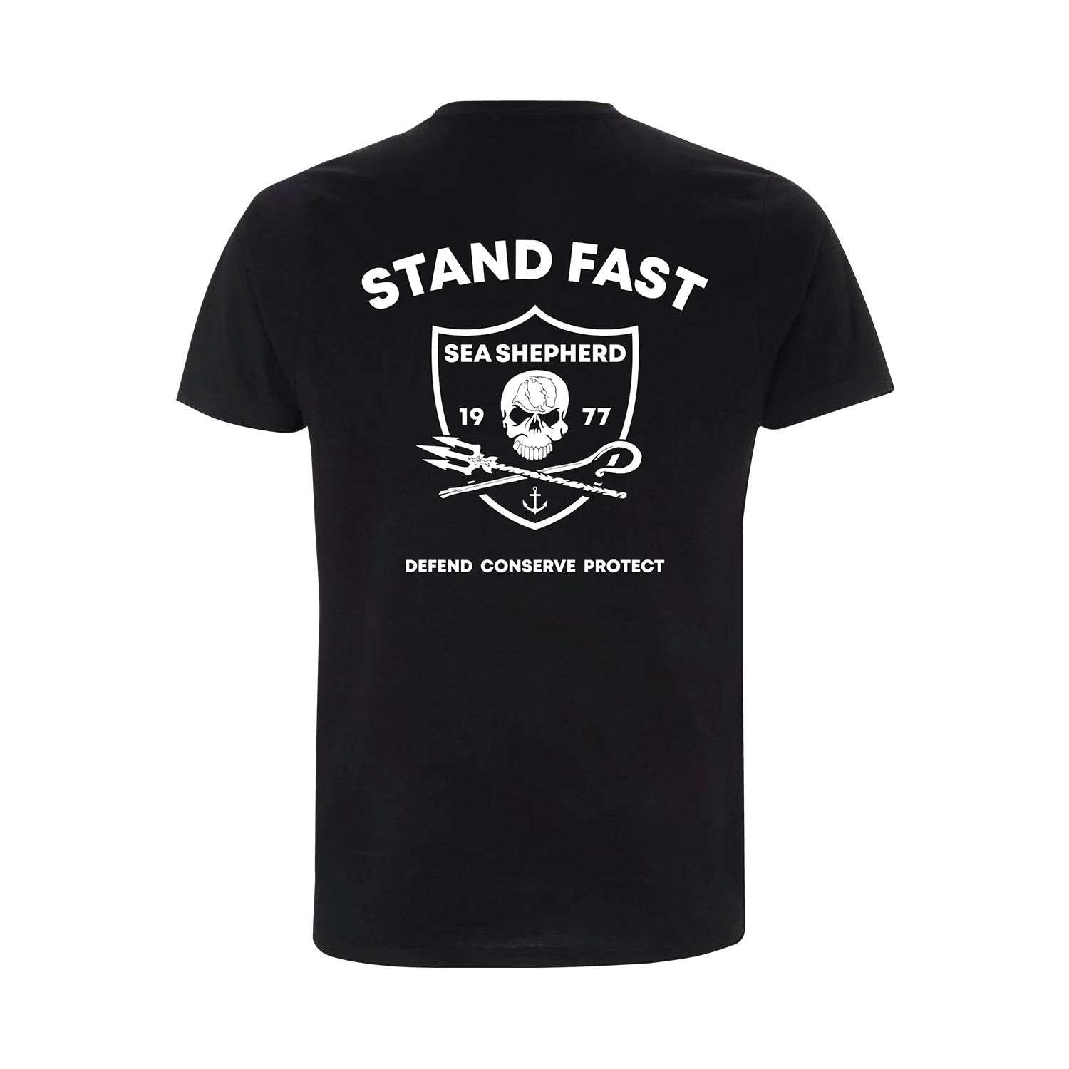 Sea Shepherd - Standfast - Seven Seas Battle - 100% Organic Cotton S/S Tee - Black
