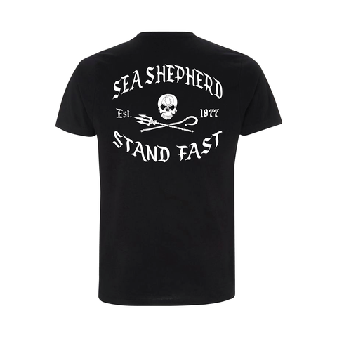 Sea Shepherd - Standfast - Great White - 100% Organic Cotton S/S Tee - Black