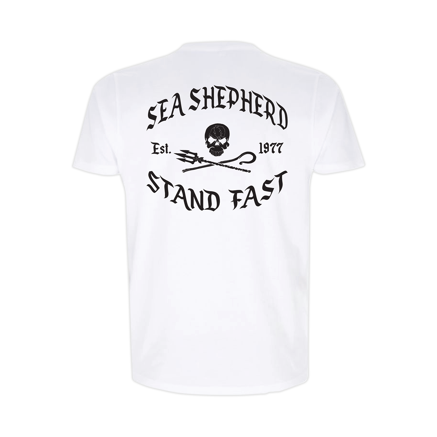 Sea Shepherd - Standfast - Great White - 100% Organic Cotton S/S Tee - White