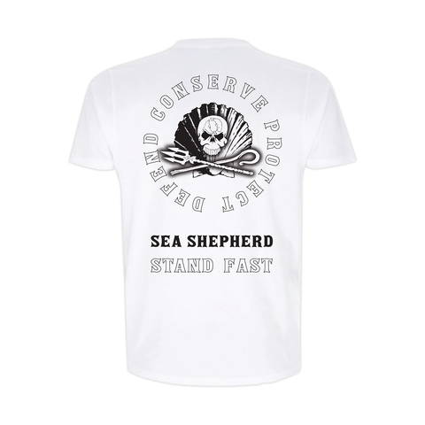 Sea Shepherd - Standfast - Ocean Fantasy - 100% Organic Cotton S/S Tee - White