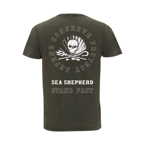 Sea Shepherd - Standfast - Ocean Fantasy - 100% Organic Cotton S/S Tee - Washed Green