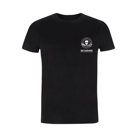 Sea Shepherd - Standfast - Ships Cargo Stamp - 100% Organic Cotton S/S Tee - Black