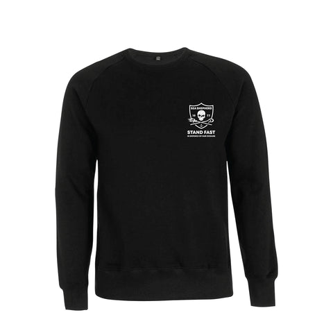 Sea Shepherd - Standfast - Seven Seas Battle - 100% Organic Cotton Fleece Crew - Black