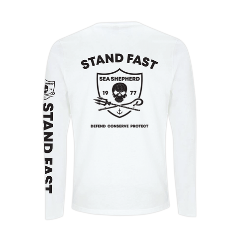Sea Shepherd - Standfast - Seven Seas Battle - 100% Organic Cotton L/S Tee - White