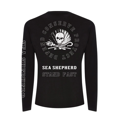 Sea Shepherd - Standfast - Ocean Fantasy - 100% Organic Cotton L/S Tee - Black