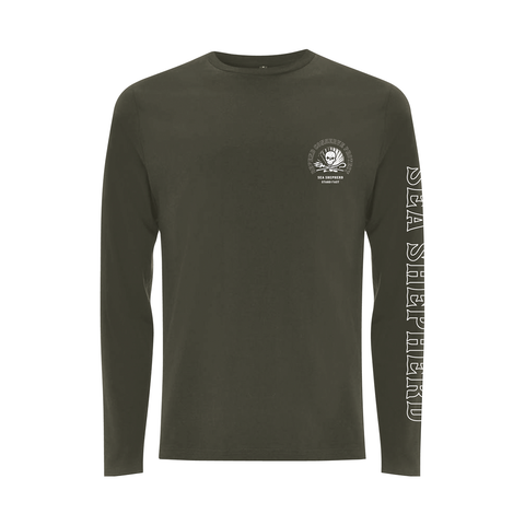 Sea Shepherd - Standfast - Ocean Fantasy - 100% Organic Cotton L/S Tee - Washed Green