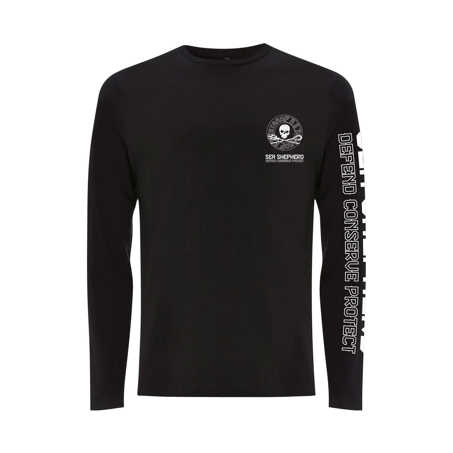Sea Shepherd - Standfast - Ships Cargo Stamp - 100% Organic Cotton L/S Tee - Black