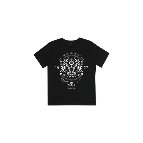 Sea Shepherd - Standfast - Wonders Of The Sea - 100% Organic Cotton Kids Tee - Black