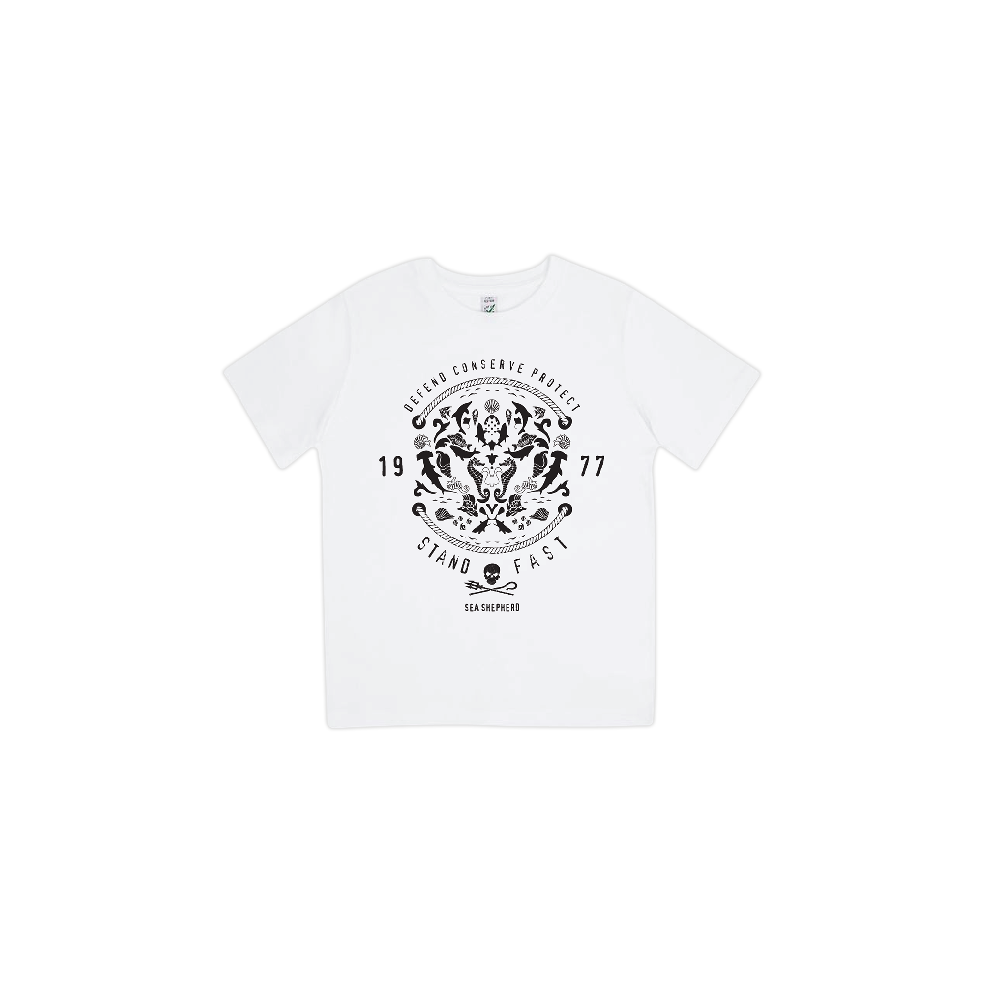 Sea Shepherd - Standfast - Wonders Of The Sea - 100% Organic Cotton Kids Tee - White