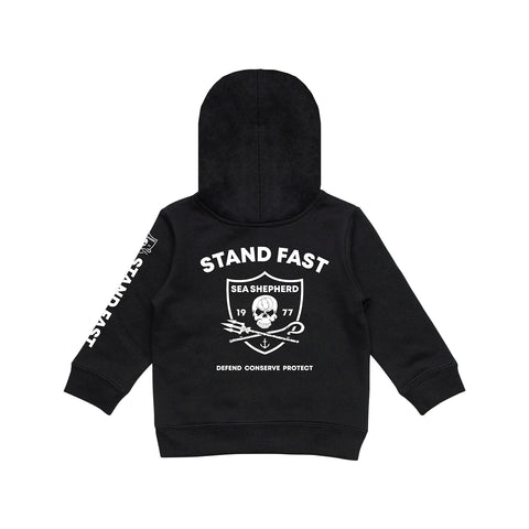 Sea Shepherd Wonders Of The Sea Fleece Pop Hood - Black