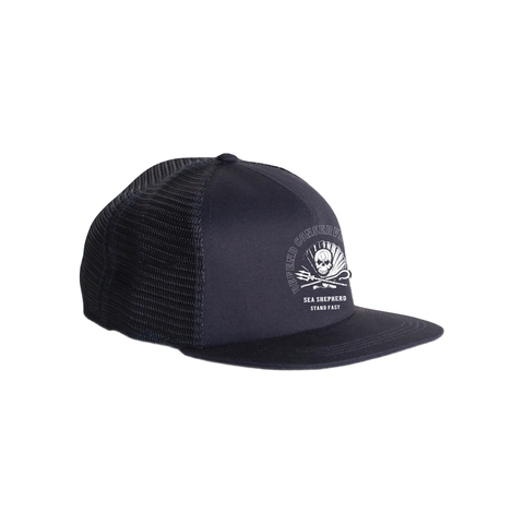 Sea Shepherd - Standfast - Ocean Fantasy - 100% Organic Cotton 5 Panel Cap - Black