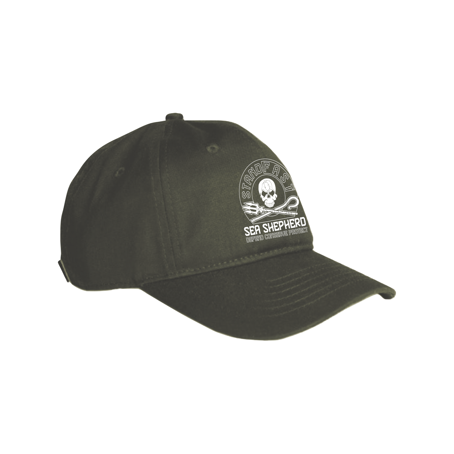 Sea Shepherd - Standfast - Ships Cargo Stamp - 100% Organic Cotton Cap - Washed Green