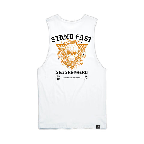 Stand Fast Ocean Kingdom Unisex Muscle Tee - Optical White