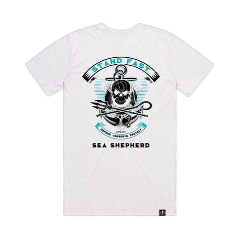 Stand Fast Sea Shepherd Forever Unisex Tee - White