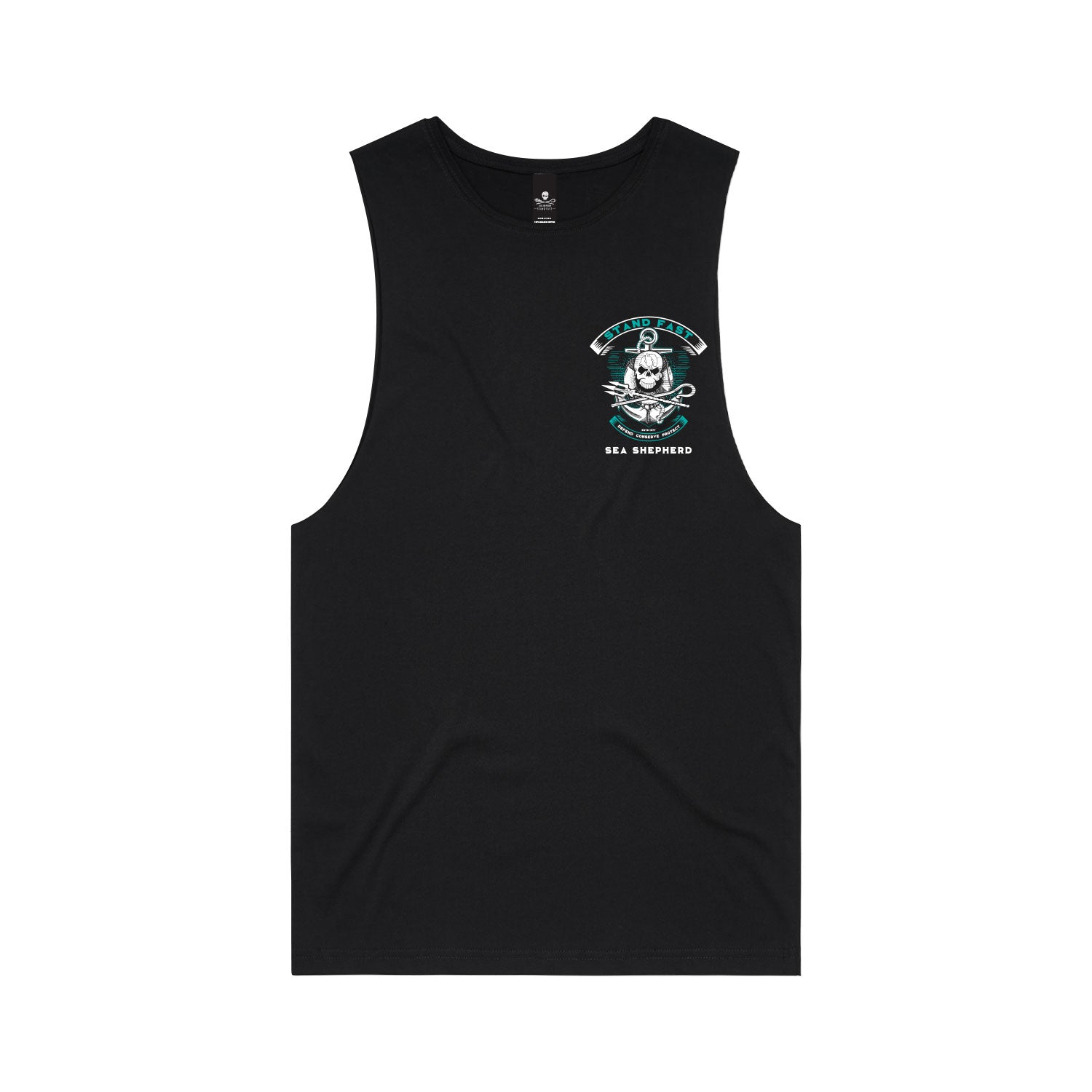 Stand Fast Sea Shepherd Forever Unisex Muscle Tee - Black