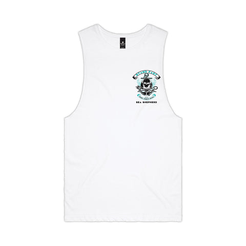 Stand Fast Sea Shepherd Forever Unisex Muscle Tee - White