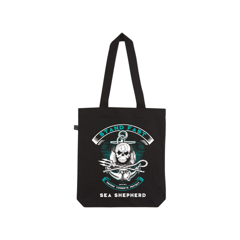 Stand Fast Sea Shepherd Forever Tote Bag - Black