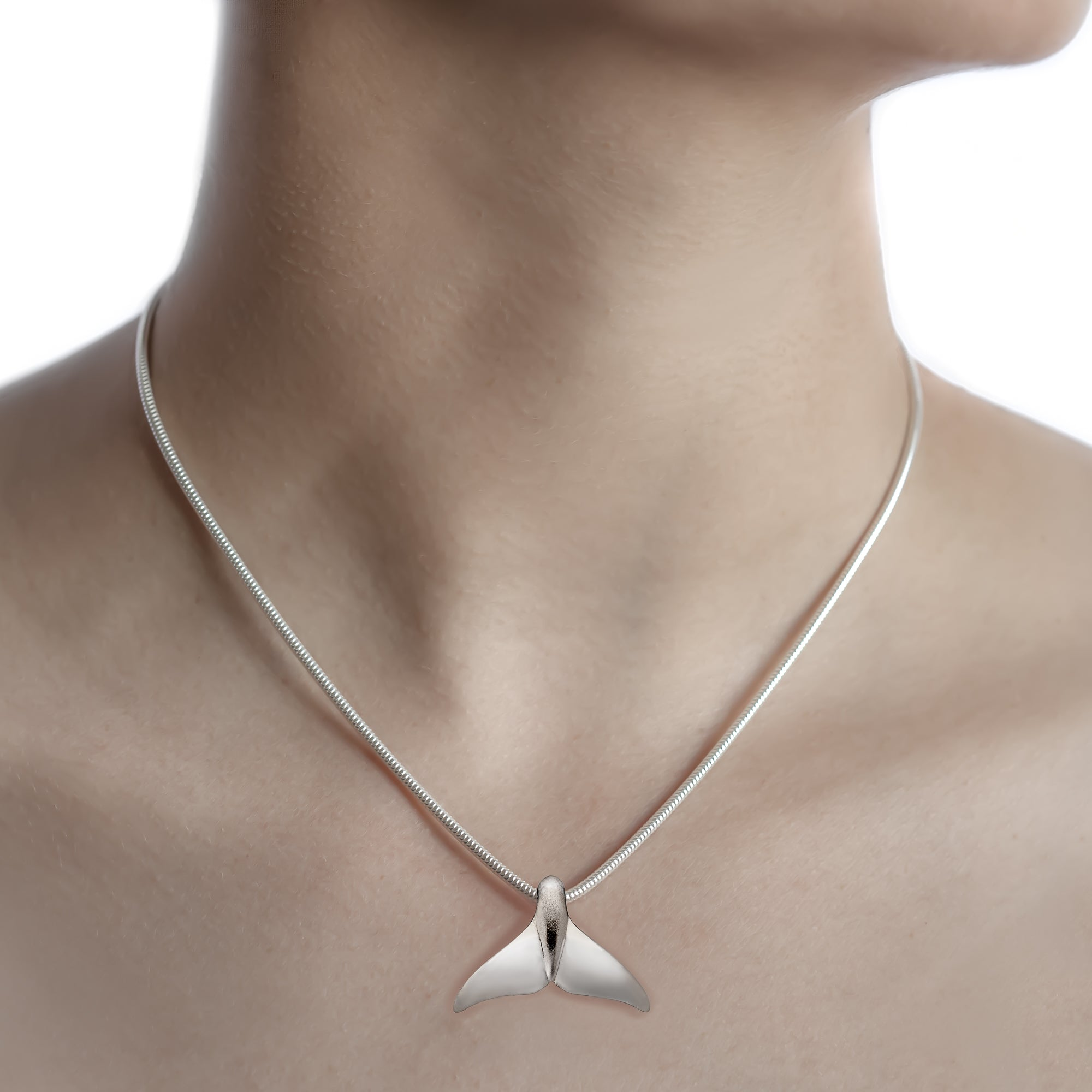 Humpback Whale Tail/Fluke Necklace on silver chain