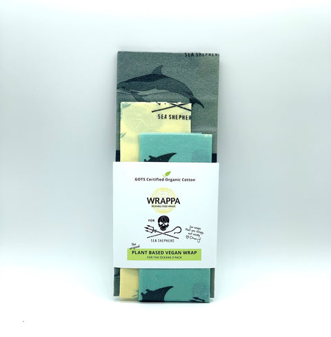 Sea Shepherd X WRAPPA reusable food wraps - 3 Pack