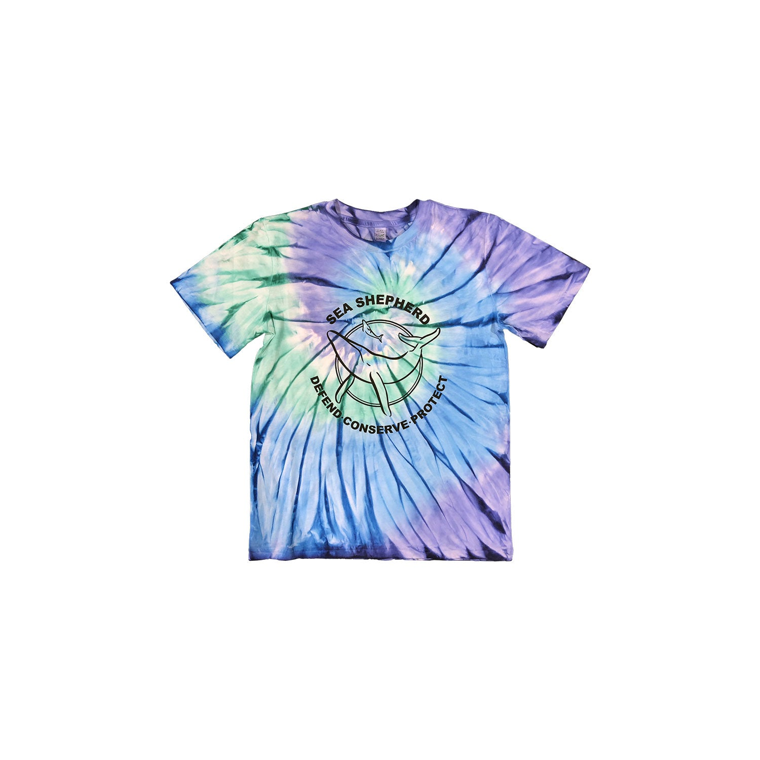 Sea Shepherd Classic Youth Tie Dye Tee - Ocean Blue