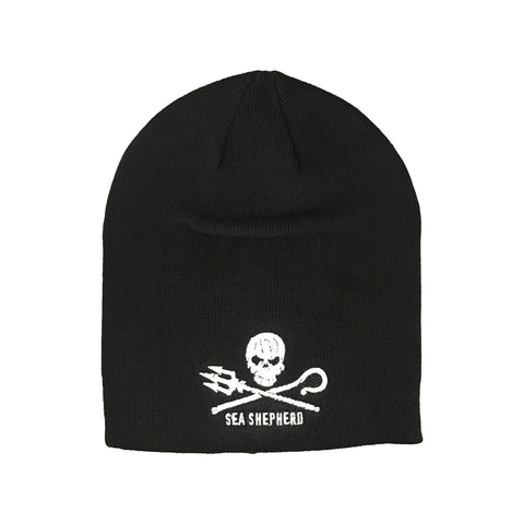 Jolly Roger Beanie Unisex Small Logo 100% Organic Cotton