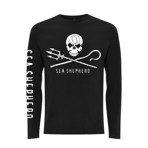 Jolly Roger Long Sleeve Tee Unisex Big Logo 100% Organic Cotton